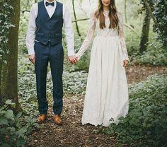 Julia Gown / Bohemian Wedding Dress / Vintage by theheartfeltshop