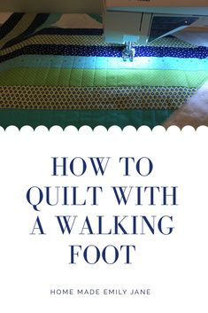 to quilt with a walking foot Why should every quilter use a walking foot on their sewing machine?Why should every quilter use a walking foot on their sewing machine? Quilting For Beginners, Quilting Tips, Quilting Tutorials, Quilting Projects, Sewing Tutorials, Sewing Projects, Sewing Hacks, Sewing Machine Quilting, Machine Quilting Patterns