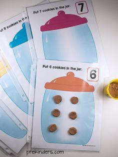 Cookie Jar Play Dough Math Mats