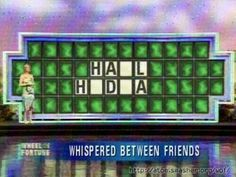 Hail HYDRA <---------This is exactly the first thing that came to mind when I saw this Wheel of Fortune puzzle. Kurt Cobain, Hail Hydra, Word Up, My Chemical Romance, All Time Low, All About Time, Nirvana, Scavenger Hunt Clues, Scavenger Hunts