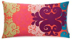 One Kings Lane - Whimsical Accents - Totem 15x27 Cotton Pillow, Pink