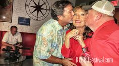 Maryann from Gilligan's Island with Tim Mikeska and Craig Kimmel. She's the same sweetheart she's always been.