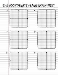 Printable Coordinate Plane Notebook Paper