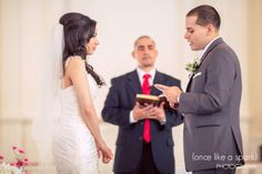 saying vows, wedding vows, wedding photography, bride and groom, candid ceremony, candid photos, CT wedding photographer, church wedding, christian wedding :: Sharon + Pedro's Wedding at The Riverview in Simsbury, Ct :: with Graham