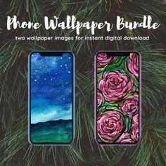 Watercolor Wallpaper for Smartphone  iPhone Wallpaper  | Etsy