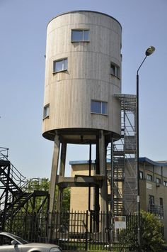 Old water tower is recycled into a new house. Wow!