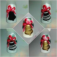 Nail Art Noel, Xmas Nail Art, Christmas Nail Art Designs, Winter Nail Designs, Winter Nail Art, Gel Nail Art, Cool Nail Designs, Winter Nails, Christmas Gel Nails