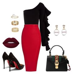 Untitled #761 by mandiexoxo1 on Polyvore featuring polyvore fashion style Beaufille Christian Louboutin Gucci Miss Selfridge clothing