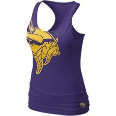 c36f3ba7f0abfa Nike Big Logo Tri-Blend NFL Minnesota Vikings Women s Tank Top - Court  Purple