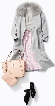 ピンク&ライトグレーで凛としたお仕事スタイル! 人気スタイリスト入江未悠さんがルミネ北千住のショップアイテムで寒い冬でも女の子を元気にするピンク使いにトライ!