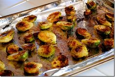 Easy (HEALTHY!) Roasted Brussel Sprouts. Perf Summer side!