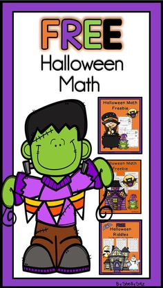 Halloween math--math for second grade--place value, comparing numbers, and much more