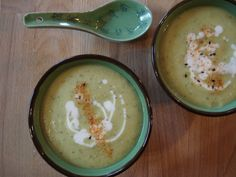 Soupe froide courgette & avocat