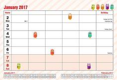Arpan 2017 Owls Family Organiser Calendar