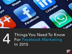 4 Things You Need To Know For #Facebook #Marketing In 2015 Facebook Marketing Strategy, Social Media Services, In 2015, For Facebook, Need To Know, Fails, Make Mistakes
