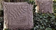 Celtic Rowan Pillow/ Pattern/ Celtic Botanical Knits1