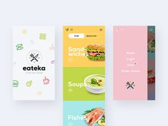 Food app by lluck #Design Popular #Dribbble #shots