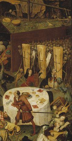 Pieter Bruegel the Elder, The Triumph of Death (detail) Renaissance Artists, Renaissance Paintings, Pieter Brueghel El Viejo, Creepy History, Elder Holland, Inspiration Artistique, Pieter Bruegel The Elder, Dance Of Death, Hieronymus Bosch
