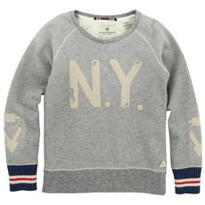 Scotch & Soda - Sweat en molleton gris chiné - 43898