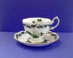 Royal Albert Vintage Teacup Set Bone China by Whitepearlfinds
