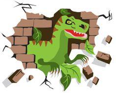 Dinosaur T-Rex Mural-Paint By Number Children's Murals