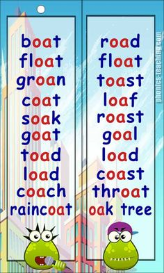 oa Word List - FREE PRINTABLE- Perfect for teaching the 'When 2 Vowels Go Walking' Rule, individual learning plans, guided reading reference charts and phonics revision. Phonics Sounds Chart, Phonics Chart, Phonics Flashcards, Phonics Blends, Phonics Rules, Phonics Lessons, Phonics Words, Jolly Phonics, Phonics Worksheets