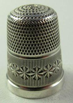 Vintage Sterling Silver Thimble | eBay