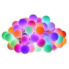 InnooLight Colored Christmas Lights 100 LED Globe String Lights for Home, Patio, Wedding, Xmas, Holiday Celebration Decoration (Multi - Color)