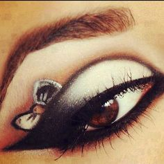 Bow eye shadow! Love!