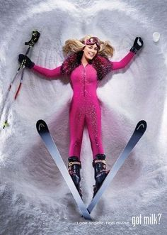 Lindsey Vonn Got Milk Ads - The Lindsey Vonn 'Got Milk' ads promote two healthy endeavors: playing sports and drinking milk. Of course, it doesn't hurt that this campaign feat. Lindsey Vonn, David Lachapelle, Short Inspirational Quotes, Ski Fashion, Winter Fashion, Sport Fashion, Fashion Beauty, Ski Bunnies, Got Milk Ads
