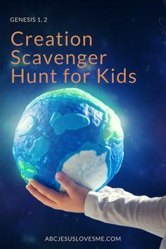 Preschool Curriculum, Preschool Activities, Homeschooling, Creation Activities, Days Of Creation, Preschools, Scavenger Hunt For Kids, 3 Year Olds, Animal Crackers