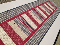 Americana Patriotic Quilted Table Runner  4th by MoonDanceTextiles, $46.00