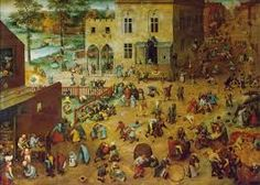 "This painting is known as ""Children's Games"".  A cool fact about this painting is that it is one of the works in a series of paintings depicting the ""Ages of Man"" Artist: Pieter Bruegel Location: Kunsthistorisches Museum, Vienna Period: Renaissance Dimensions: 118 cm × 161 cm Date of Completion: 1560"