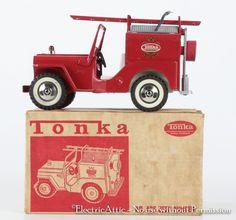 1960's Tonka, Jeep Pumper, pressed steel