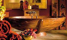 Naturlige materialer på badet