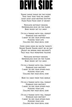 DEVIL SIDE [Album: BEAST] #VAMPS #HYDE #KAZ #LYRICS #MUSIC #BEAST #DEVILSIDE