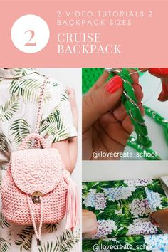 Crochet pattern backpack video tutorial by IlovecreateStore. Step by step backpack pattern, DIY crochet backpack, tshirt yarn backpack kit. Crochet pattern backpack video tutorial with complete and detailed video-description of the whole backpack creating process. There is also a pdf description of the entire crochet process. The terms of crochet are 1-3 days.