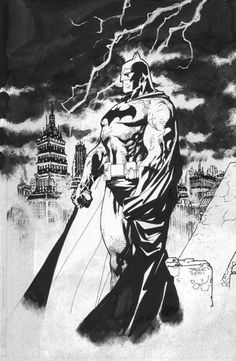 "longlivethebat-universe: ""Batman by Jim Lee """