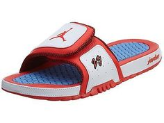 c6af09b8632e9b Jordan Hydro 2 Premier Mens 456524-102 White Crimson Blue Slide Sandals Size  12 University