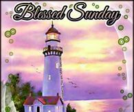 Lighthouse Blessed Sunday Blessed Sunday Good Morning Picture Sunday Pictures