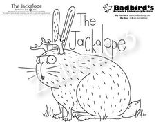 Jackalope Embroidery Pattern
