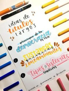 Blending Brush Lettering with a Water Brush Bullet Journal Titles, Journal Fonts, Bullet Journal Lettering Ideas, Bullet Journal School, Lettering Tutorial, Pretty Notes, School Notes, Study Notes, Brush Lettering