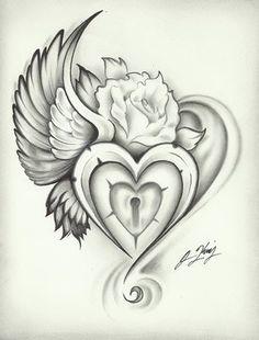 Heart Rose tattoo