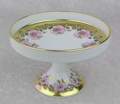 Bavaria Porcelain LOTS Gold Gilt Pedestal Compote