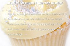 How to start a (legal) home-based food business