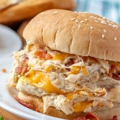 This Creamy Crockpot Crack Chicken has all the delicious flavors of crack dip, plus tender slow-cooked chicken. And it's amazingly easy to make. Crockpot Chicken And Gravy, Slow Cooked Chicken, Crockpot Dishes, Crock Pot Cooking, How To Cook Chicken, Shredded Chicken, Crack Chicken Crock Pot, Fast Crockpot Meals, Pulled Chicken Recipes
