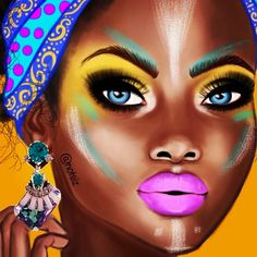 OMG!!! This one took me more than 5 hours  #PartOfAPainting #African #Beauty