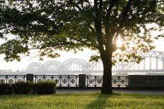The Bridge over Daugava by Mariss Balodis. Latvia.