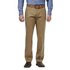 Men's+Haggar+Premium+No+Iron+Khaki+Stretch+Classic-Fit+Flat-Front+Pants