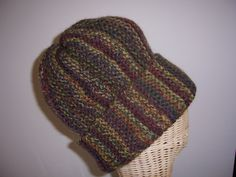 Hand Knitted Beanie suitable for Men or Women.  The yarn used is Wool and Alpaca.